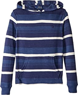 Striped Waffle Knit Hoodie (Little Kids/Big Kids)