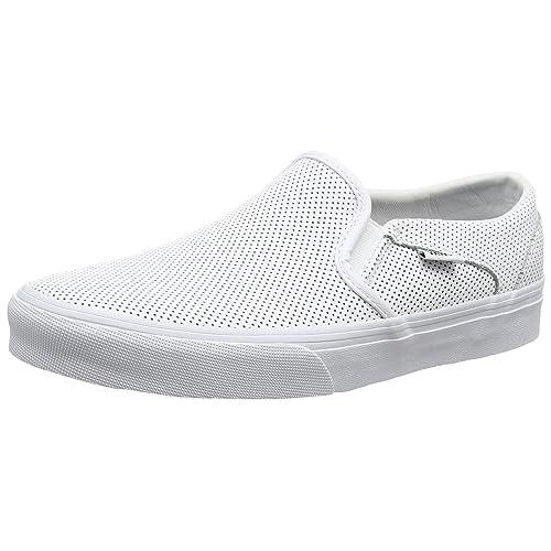 d97d89419503 White Leather Vans  Amazon.com