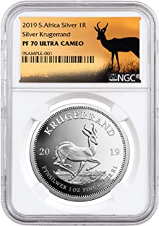 2019 ZA 2019 ZA Silver Proof Coin UC Springbok Label 1 Krugerrand PF70 NGC 1 Krugerrand PF70 NGC UC