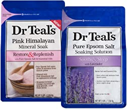 Dr Teal's Epsom Salt Soaking Solution, Lavender and Pink Himalayan, 2 Count - 6lbs Total