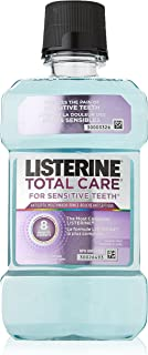 Listerine Total Care for Sensitive Teeth Antiseptic Mouthwash, Clean Mint, 250mL