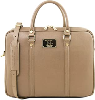 Tuscany Leather Prato - Exclusive Saffiano Leather Laptop case - TL141626  (Caramel) 7b665208d4a76