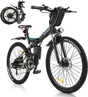 Vivi Elektrisk cykel elektrisk mountainbike för vuxen, 26 tum fällbar elektrisk cykel 250 W motor med 36 V 8 Ah litiumjonb...