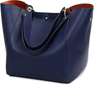 Obosoyo Women's Waterproof Handbags Ladies Synthetic Leather Tote Shoulder Bags Fashion Travelling Mommy Soft Hot Purse
