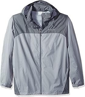 Columbia Men's Big and Tall Glennaker Lake Front-Zip Rain Jacket with Hideaway Hood, Grey Ash/Graphite, 2XT