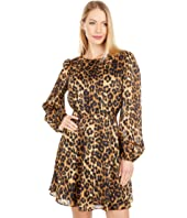 Elma Cheetah Burnout Dress