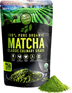 Classic Culinary Matcha Green Tea Powder – 100% Pure Vegan Matcha with 1500+ Antioxidants – USDA Organic Green Superfood Powder for Baking, Smoothies, & Matcha Tea Lattes by Matcha Organics, 4oz