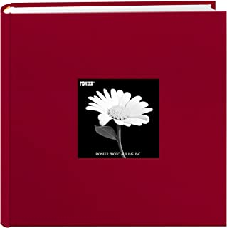 Pioneer Fabric Frame Cover Photo Album 200 Pockets Hold (4x6 , Apple Red)