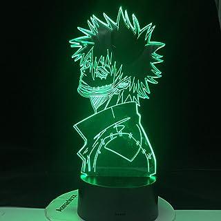 ACADEMIA DABI MY HERO LED ANIME LAMP 3D Nightlights Boku no Hero Academia 3D Visual Night Light Lámpara de mesa Servicio de envío directo, 16 colores con control remoto