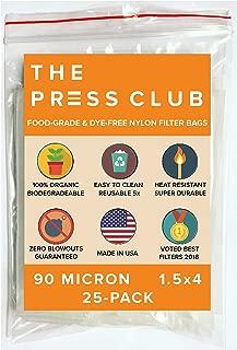90 Micron   Premium Nylon Tea Filter Press Screen Bags   1.5