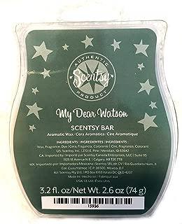 Scentsy My Dear Watson Wickless Candle Tart Warmer Wax, 3.2 fl oz