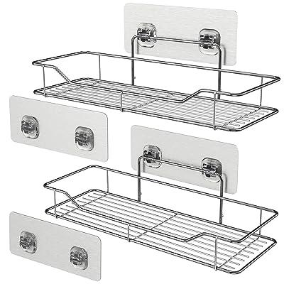 Bathroom Wall Shelves, Veckle Adhesive Shelf Ba...