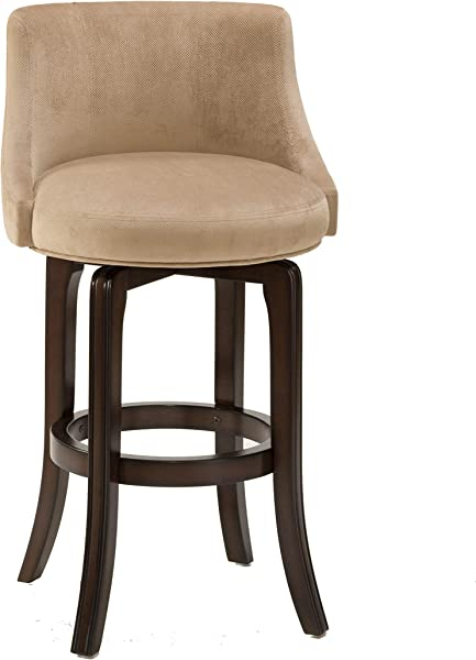Hillsdale Furniture 4294 828I 纳帕谷软垫旋转柜台凳子高度卡其色