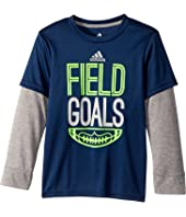 adidas Kids - Field Goals Tee (Toddler/Little Kids)
