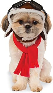 Rubies Costume Co Company 580222_S-M Pet Aviator Hat and Scarf Set, Small/Medium