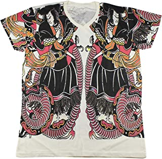 Japanese Tattoo T-Shirt White / WK114 size XL