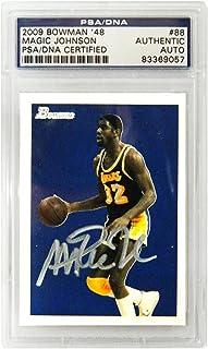812efb1c8 Magic Johnson Signed Los Angeles Lakers 2009 Bowman Trading Card  88 - (PSA  Encapsulated