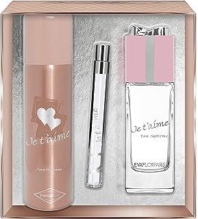 Evaflorparis Je TAime Eau Suprême Gift Box Eau de Parfum 100 Ml + Déodorant 150 Ml + Pocket Atomizer 12 Ml Set Women Spra...