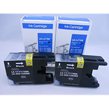 Extra High Yield 6710 6910 Yellow InkSurf Compatible Ink Cartridge Replacement for Brother LC79Y Works with: MFC J6510