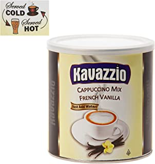 Kavazzio French Vanilla Powdered Mix 1lb. Can (Pack of 2)