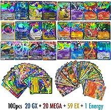 TCG Style Card Holo EX Full Art : 20 GX + 20 Mega + 59 EX Arts +1 Energy 100pcs New