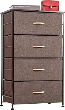 WAYTRIM Fabric 4 Drawers Storage Organizer Unit Easy Assembly, Vertical Dresser Storage Tower for Closet, Bedroom, Entryway,