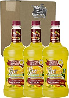 Master of Mixes Sweet N' Sour Lite Drink Mix, Ready To Use, 1.75 Liter Bottle (59.2 Fl Oz), Pack of 3