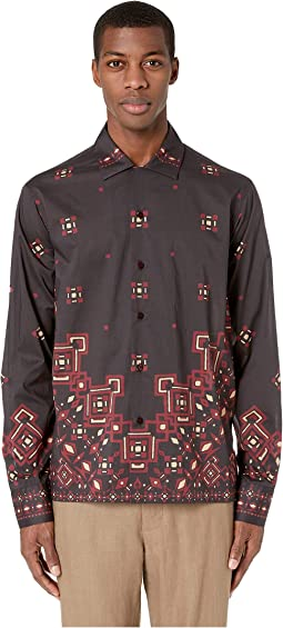 Placed Tribal Pattern Shirt