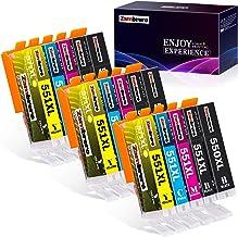Zambrero 550 551 Reemplazo para Canon PGI-550XL CLI-551XL Cartuchos de tinta Compatible con Canon PIXMA IP7250 IP8750 MX925 MG5650 IX6850 MX725 MG5550 MG6350 MG6450 MX920 (5 Colores, 15 Paquetes)