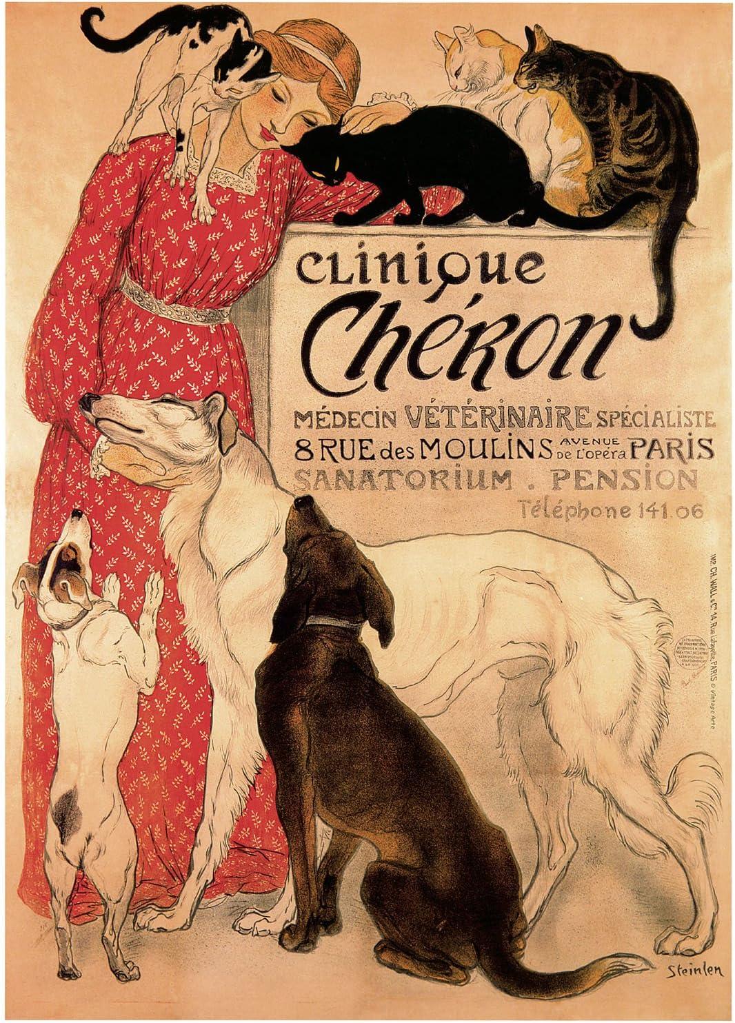 Clinique Chéron-Steinlen Ranking TOP8 - CANVAS OR High order ART PRINT FINE WALL