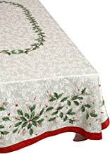 Lenox Golden Holly 60-inch by120-inch Oblong/Rectangle Tablecloth