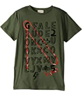 Gucci Kids - Crossword Puzzle Short Sleeve Tee (Little Kids/Big Kids)