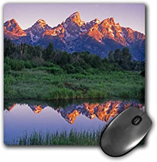 3dRose Mouse Pad Wyoming, Grand Teton Np. Mountains Reflect in Beaver Pond at Sunrise. - 8 by 8-Inches (mp_279805_1)