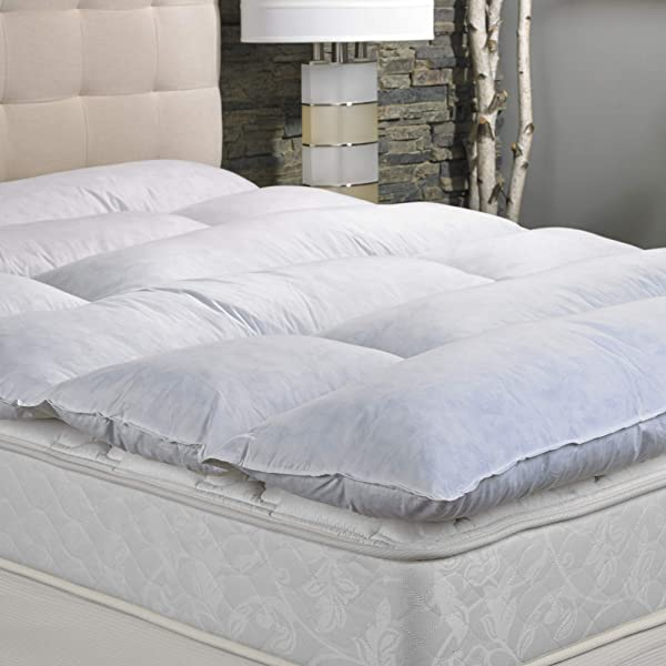 Marriott Featherbed Soft Plush Mattress Topper Filled With Allergen Free Feathers King