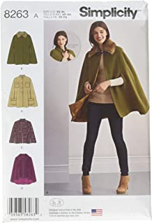 Simplicity 8263 Women's Cape and Capelets Sewing Patterns, Sizes XS-XL