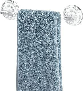 iDesign Plastic Power Lock Suction Towel Bar, Holder for Bathroom, Kitchen, Laundry Room, Mudroom, 11.2