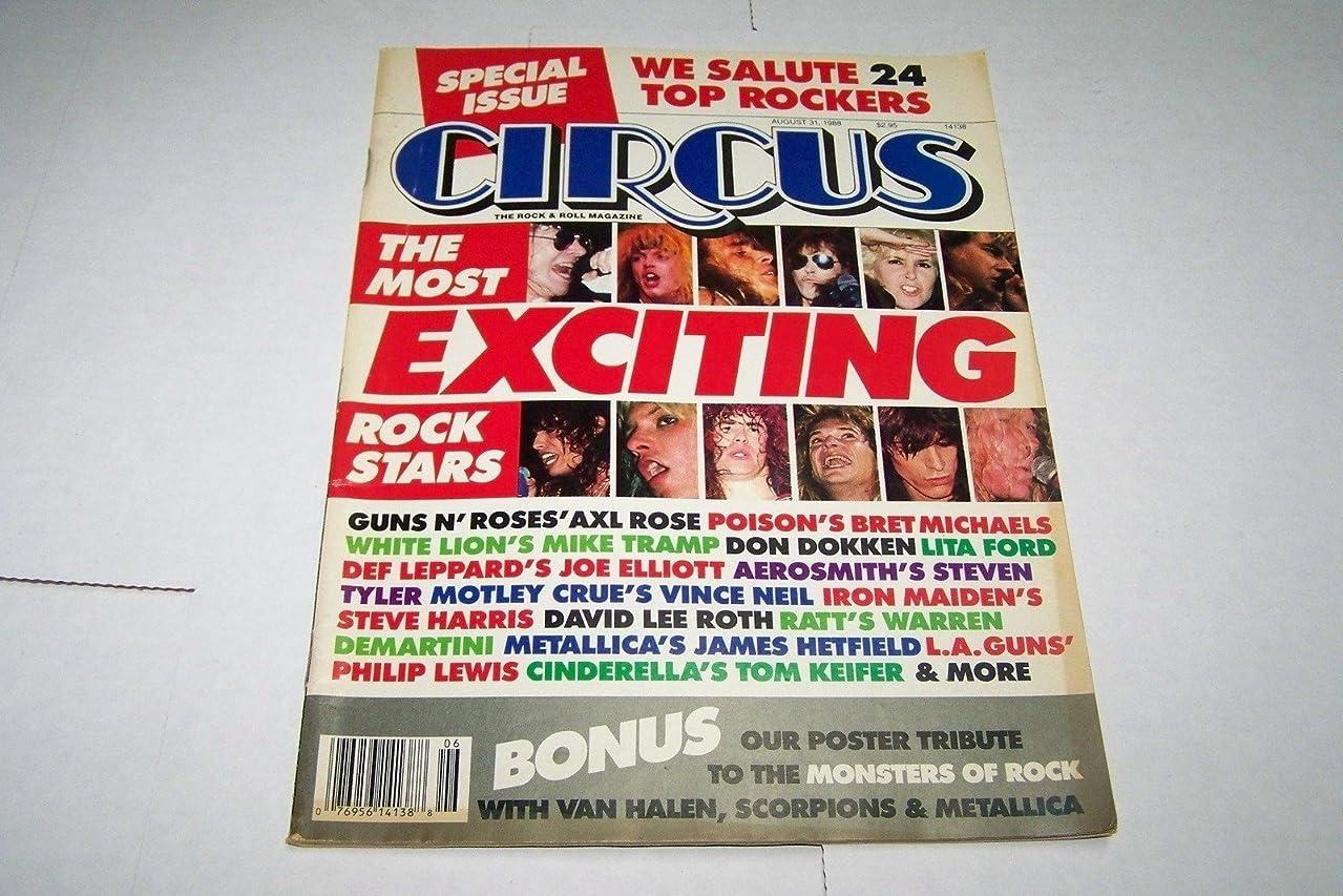 Circus Rock Magazine 31 August 1988 Guns n Roses Axl Slash Motley Crus Don Dokken Poison Aerosmith Metallica Van Halen Cinderella Iron Maiden LA Scorpions (Circus Magazine)