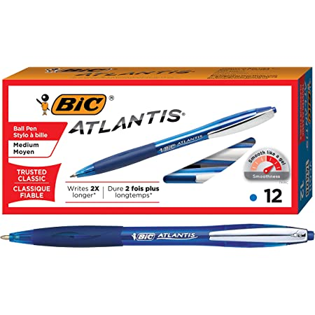 Bold Point 8-Count New BIC VLGBAP81-AST Velocity Bold Fashion Retractable Ball Pen Assorted 1.6 mm