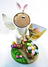 Angel Cheeks Rabbit Pushing Wheelbarrow 2011 Collectible Figurine Easter New