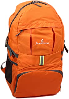 Alley-Pak Lightweight Travel Hiking Waterproof Daypack 35L with Reflector Black or Orange Color Backpack