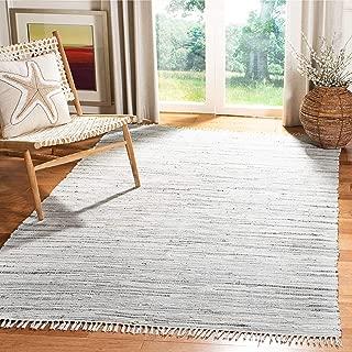 Safavieh Rag Rug Collection RAR121A Hand Woven Grey Cotton Square Area Rug (6' Square)