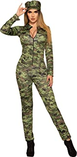 Forum Novelties Sexy Army Jumpsuit and Hat Adult Costume