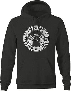 I Love Guns Jeeps Titties 4x4 Outdoor - Coffee Mens Sweatshirt - 4XL