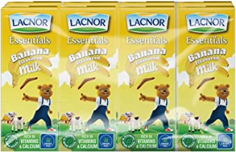 Lacnor Banana Milk - Pack of 8 Pieces (8 x 180 ml)