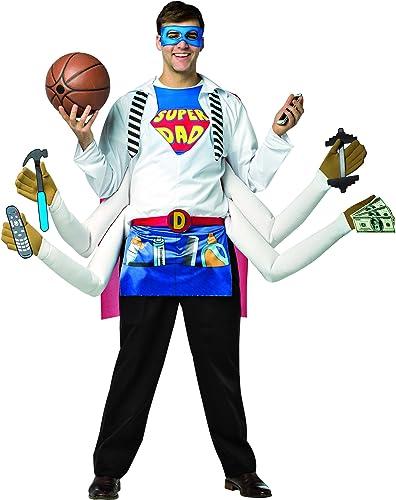 Rasta Imposta 6148 Mehrfarbiges Kostüm für Herren Super Dad (EinheitsGröße)