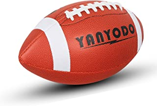 YANYODO Official Size 9 Footballs, Super Grip Composite Football Training & Recreation Play, Microfiber Leather Cover for Youth League College High School