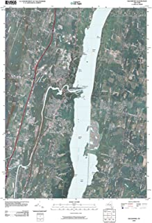 New York Maps - 2010 Saugerties, NY USGS Historical Topographic Map - Cartography Wall Art - 44in x 61in