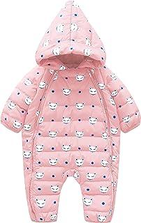 Cnajii Baby Infant Boy Girl Winter Down Snowsuit Warm Hooded Jumpsuit