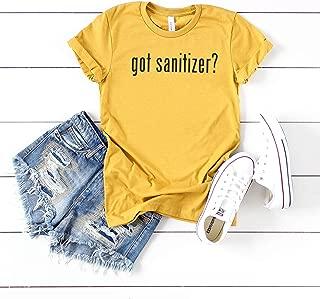 Got Sanitizer? | Short Sleeve Crew | Black Ink | Coronavirus Tee | Toilet Paper Shortage Tee | Quarantine Tee | Graphic Tees | Unisex Fit | Bella Canvas