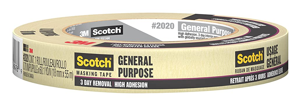 Scotch Painter's Tape 2020-.75A General Purpose Masking Tape, 0.7 Inch x 60.1 Yards